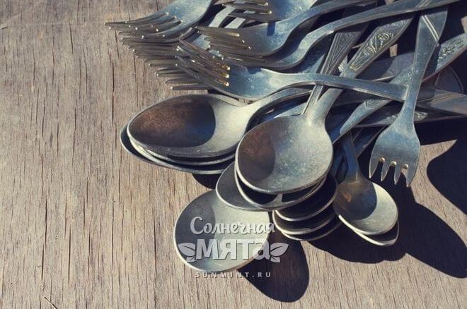 Алюминиевые столовые приборы, фото