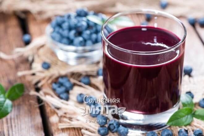 Черничный сок полезен для здоровья