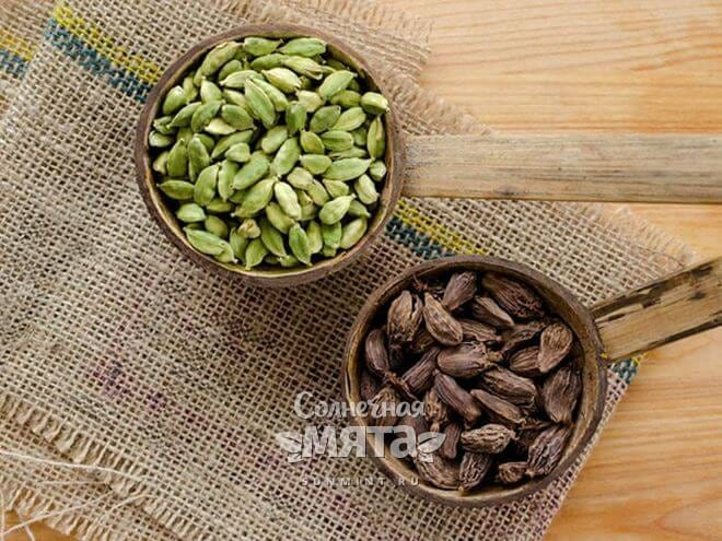 Черный и зеленый кардамон отличаются по вкусу и запаху