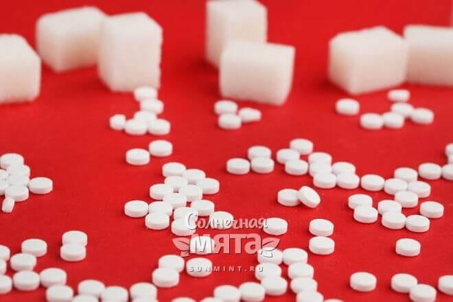Фруктоза бывает в кубиках и таблетках