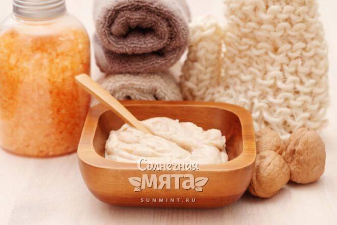 Грецкий орех используется в косметологии
