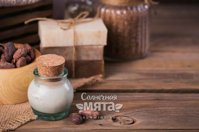 Из масла какао делают мыло