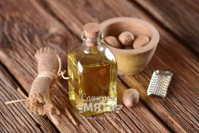 Из мускатного ореха давят масло