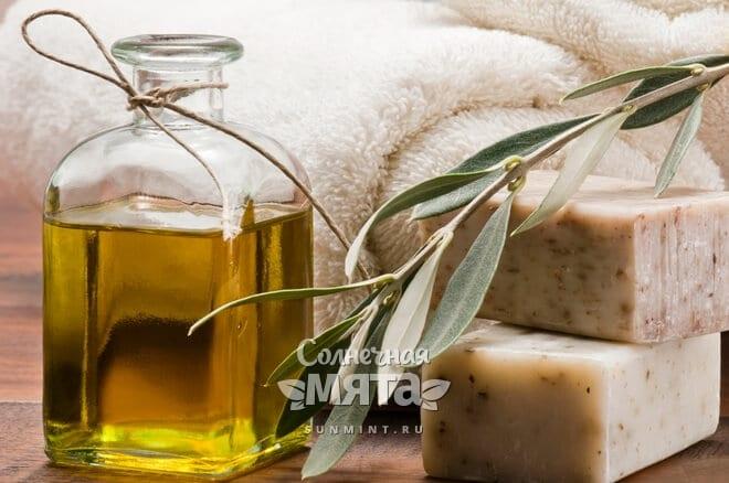 Из оливкового масла делают мыло
