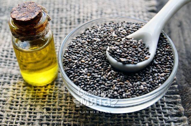 Из семян чиа получают масло