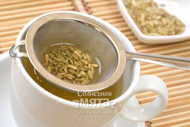 Из семян фенхеля делают чай