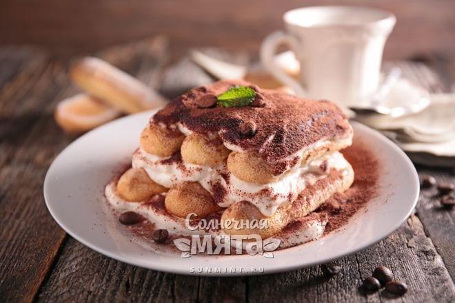 Кофе входит в десерт тирамису