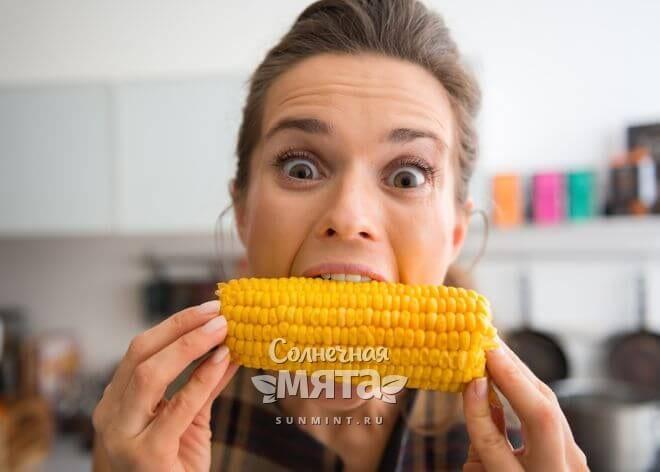Кукуруза сладкая и сочная