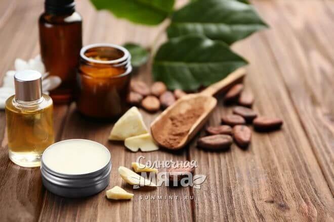 Масло какао используют в косметологии