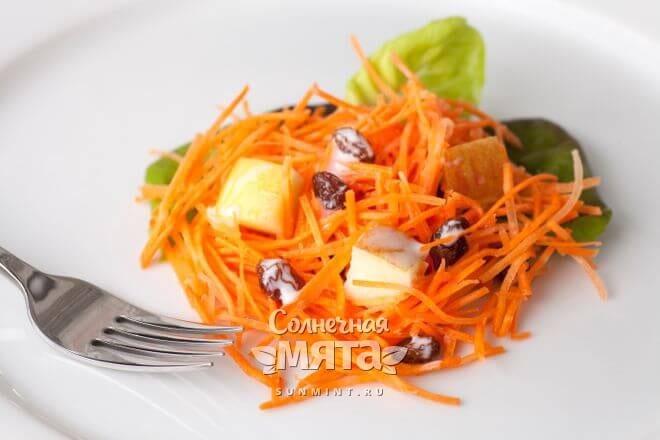 Морковка хороша в салатах