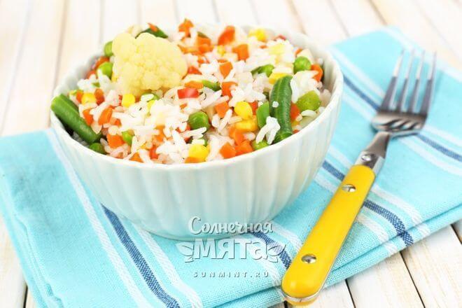 Рис часто готовят с овощами