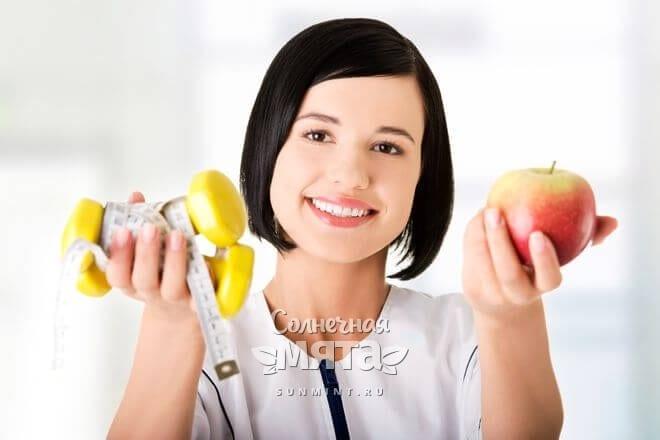 С помощью яблок легко худеть