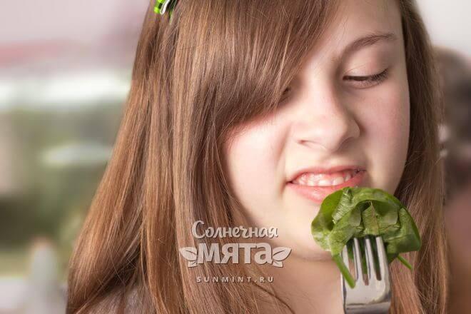 Шпинат повышает аппетит