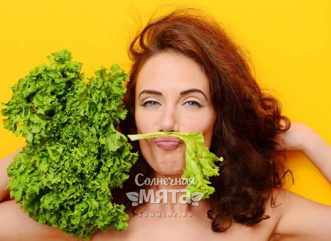 Салат полезен для кожи и волос