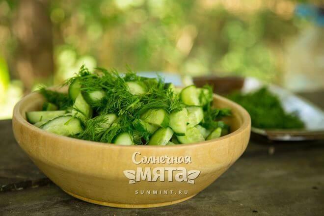 Укроп добавляют в салаты