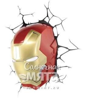 Шлем железного человека из стены, фото
