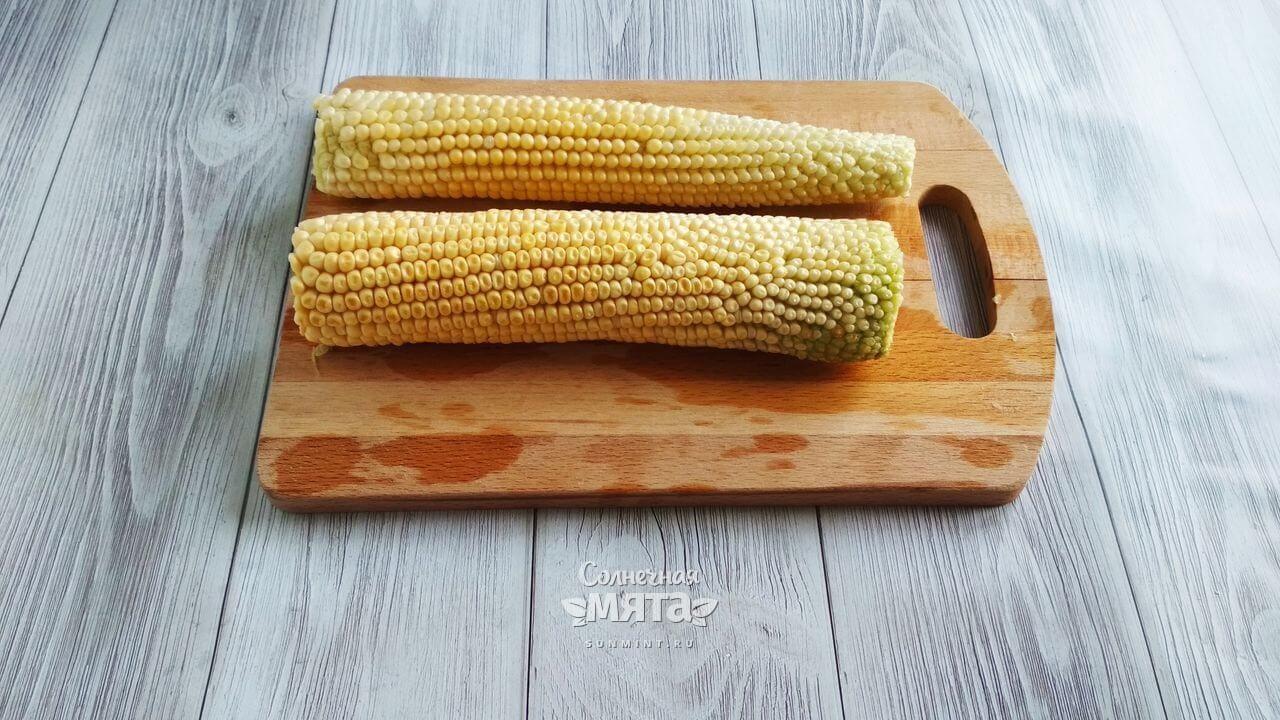 Кукуруза с чесночным соусом - Шаг 2