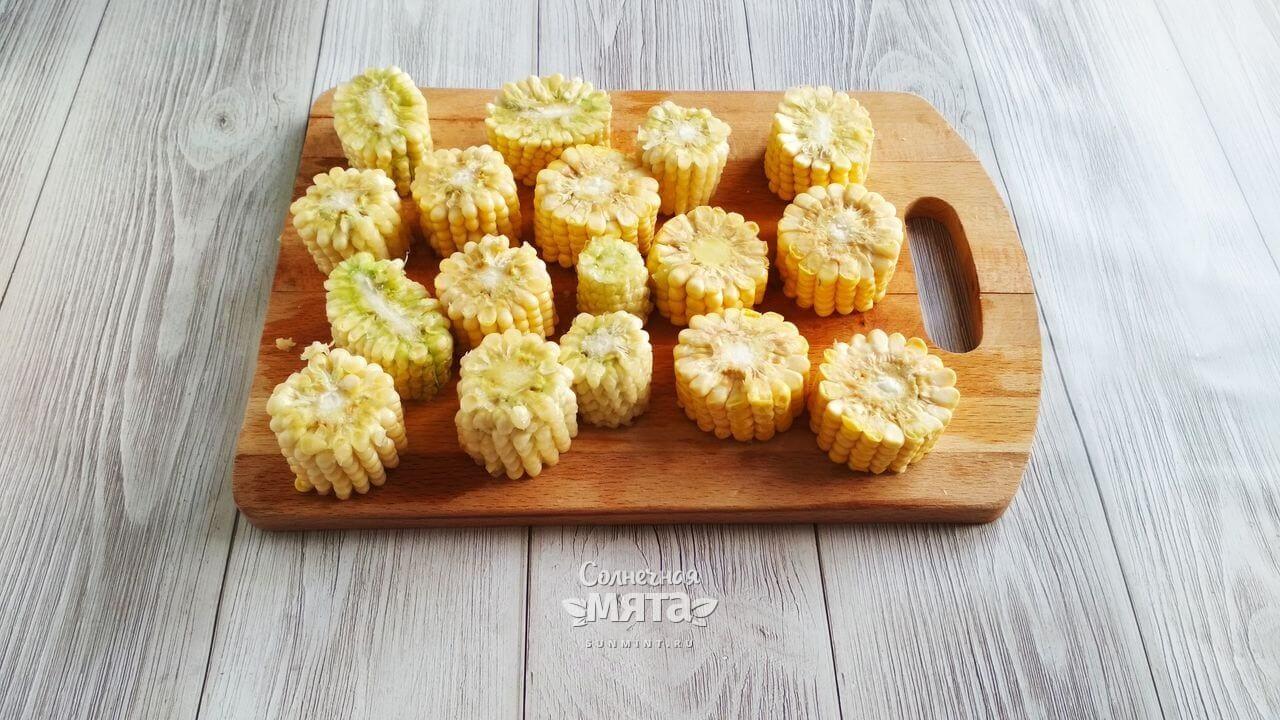 Кукуруза с чесночным соусом - Шаг 3