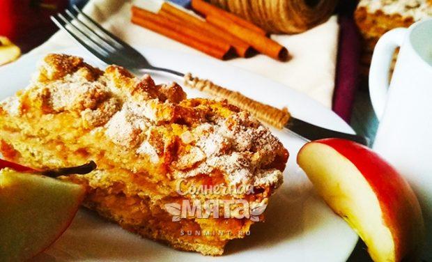 Насыпной яблочный пирог из Болгарии