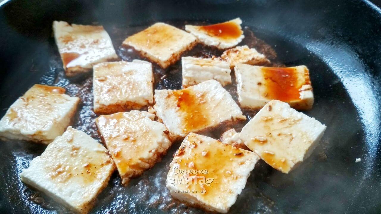 Салат с жареным сыром - Шаг 7-2