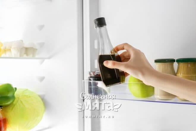 Храните соевый соус в холодильнике