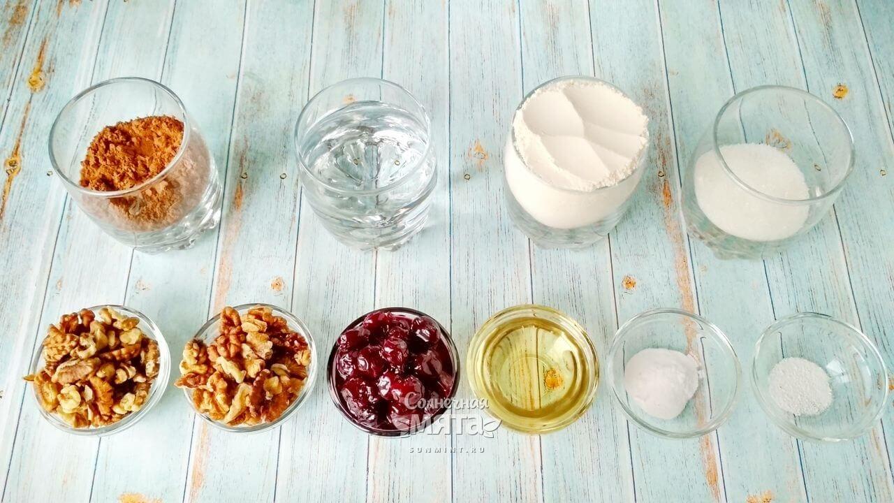 Кекс с орехами и вишней - Шаг 1