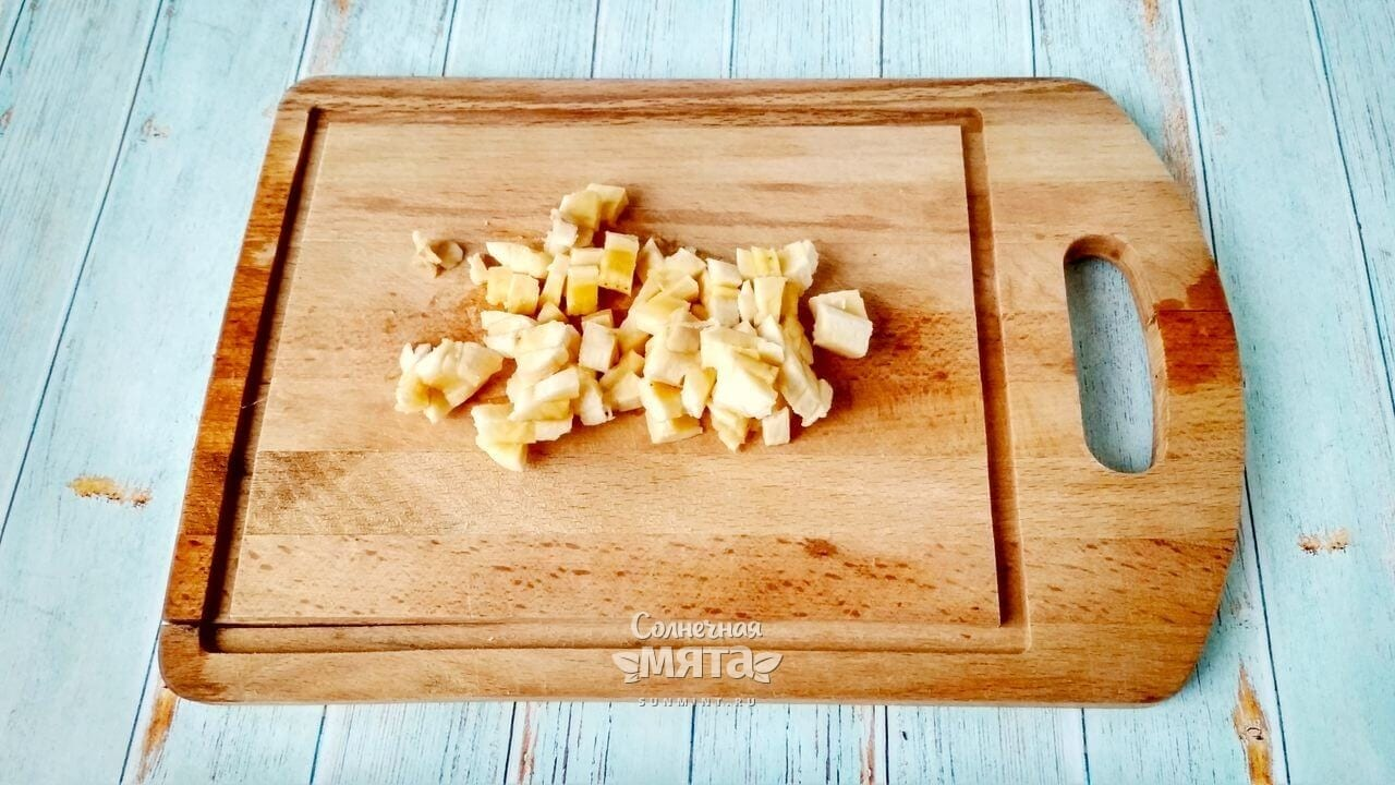 Овсянка в банке - банан и вишня - Шаг 3