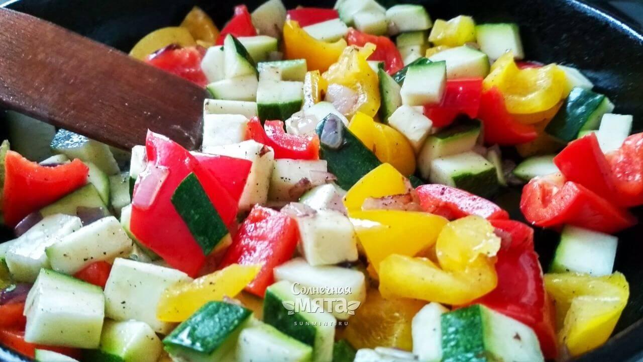 Паэлья овощная с сыром - Шаг 13