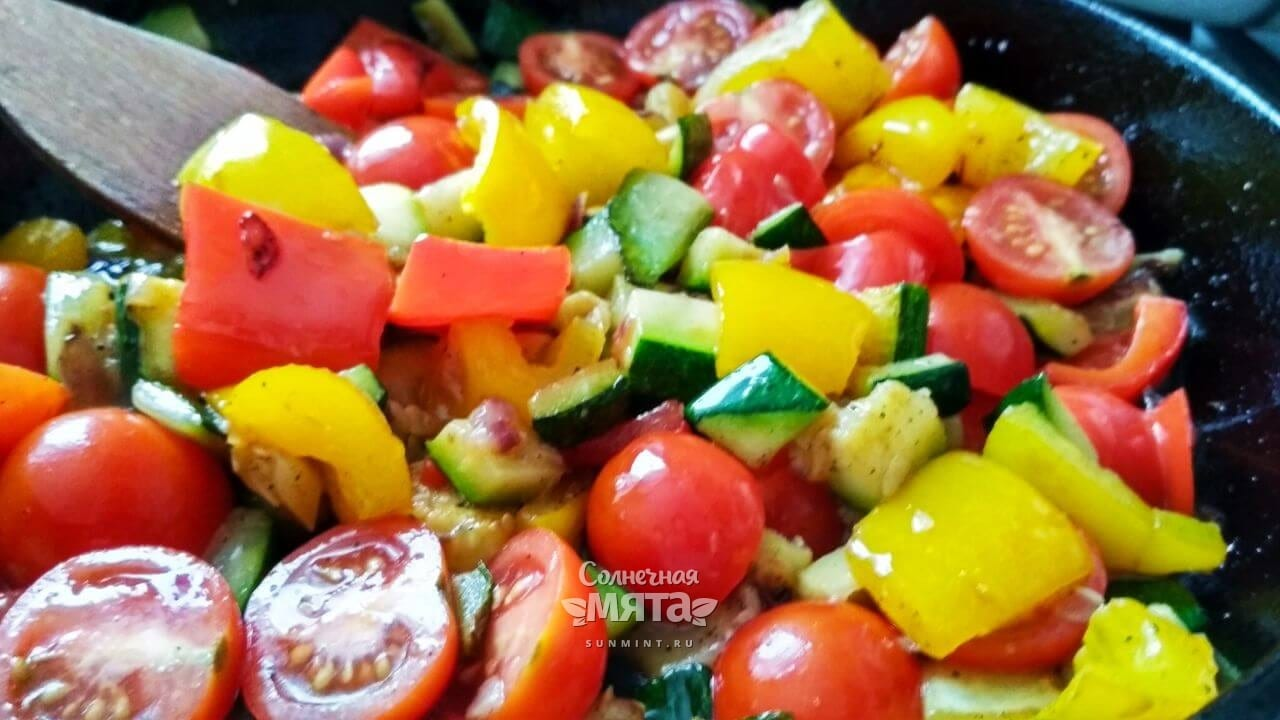 Паэлья овощная с сыром - Шаг 14