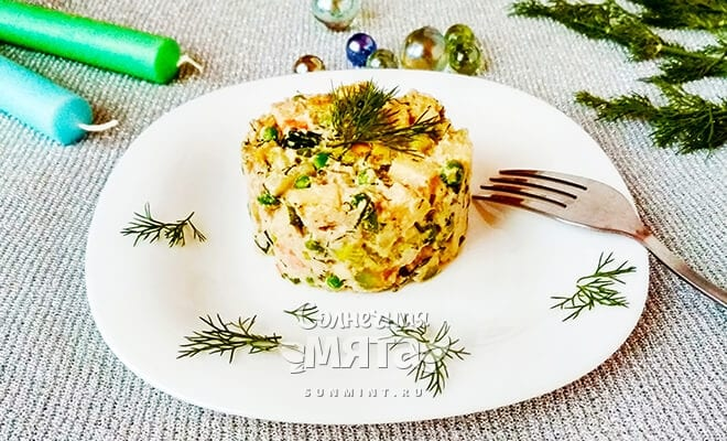 Салат со вкусом ностальгии - новогодний сыроедческий оливье