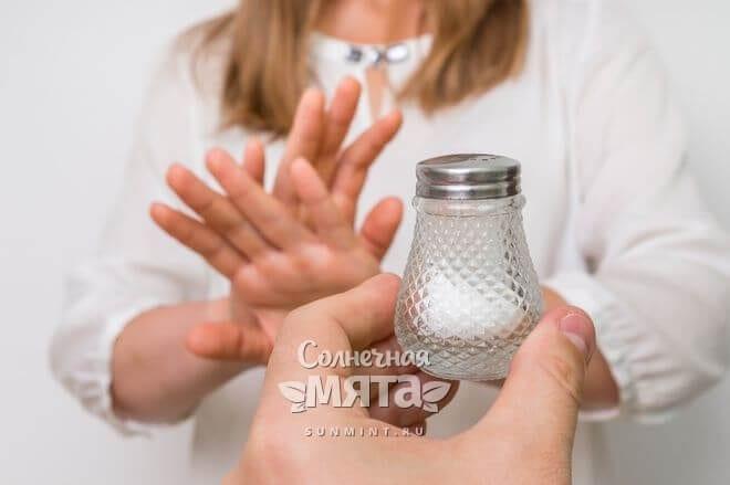 Соль может быть вредной