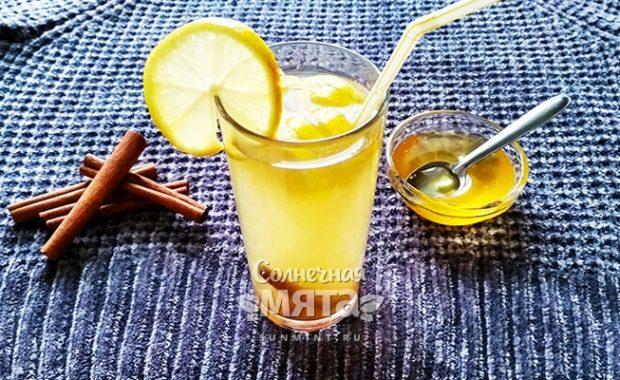 Сладкий имбирно-лимонный напиток - вкусное средство от простуды
