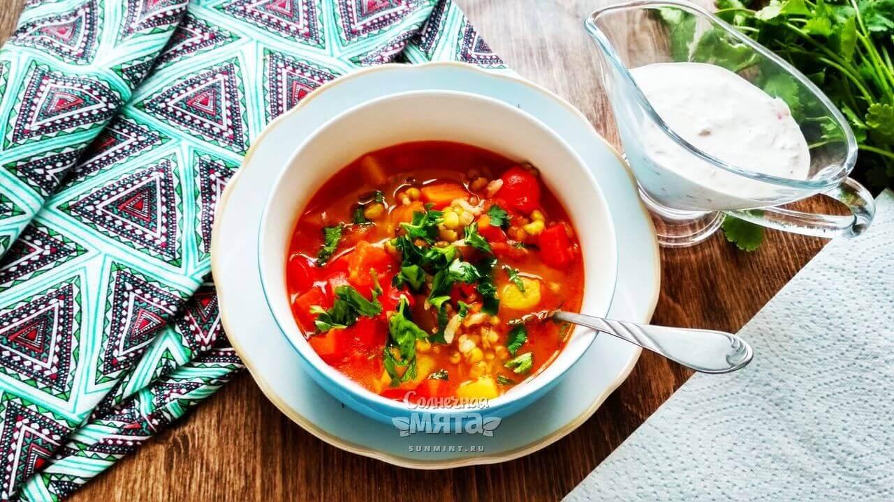 Готовый суп и соус